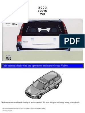 VOLVO V70 2003 User Manual | Airbag | Seat Belt