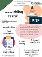 assembling tests