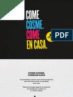 Carta del restaurante Cosme