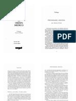 """03 -  Clavreul - """"El orden médico"""" Prologo, Introducción y capítulo 1."""