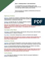 FLORES DE BACH COMBINACIONES Y USOS ESPECÍFICOS