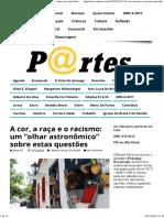 """A cor, a raça e o racismo_ um """"olhar astronômico"""" sobre estas questões _ Revista Partes"""