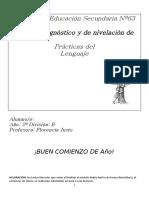 Módulo diagnóstico Practicas del lenguaje