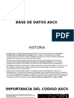 BASE DE DATOS ASCII