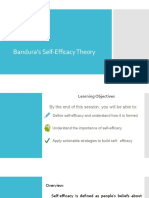 Bandura's Self-Efficacy Theory