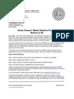 Senior Farmers Market Nutrition Program News Release -- DSS of South Carolina.pdf