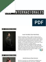 Los Internacionales - Descripcion de Personajes