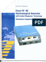 Valleylab Force FX-8C Service Manual Schematics Supplement