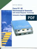 Valleylab Force FX-8C Service Manual Schematics Supplement