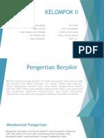 BERPIKIR KRITIS (KEL 2) PSIKOLOGI
