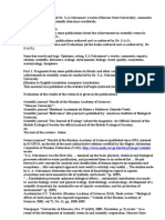 Publications on Success in Research at Moscow University. Environm. science, ecology, biology, some examples. Opinion on and rating of some works