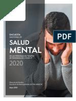 Encuesta Nacional de Salud Mental de Las Personas en Tiempos de Pandemia Del Covid-19 (2020)