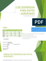 MEDIDAS DE DISPERSION PARA DATOS AGRUPADOS 9