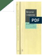 Guastini - Interpretar y Argumentar (1)