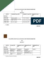 PLANNING des évaluations du 2ièm semestre  2016-2017