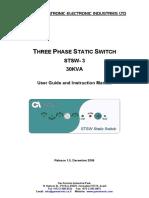 Static Switch Three Phase 30K