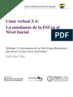 Clase virtual 3.A_ La enseñanza de la ESI en el Nivel Inicial