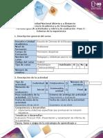 Guía de actividades y rúbrica de evaluación - Paso 5 - Informe de la experiencia