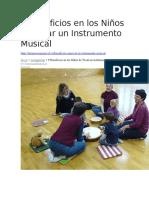 9 Beneficios en los Niños de Tocar un Instrumento Musical