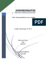 Taller 1 Departamentalización, costos y cantidades