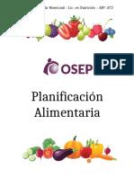 PLANIFICACIÓN ALIMENTARIA.