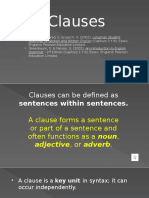 Clauses types with audio