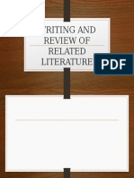 T11 Writing and Review of Related Literature