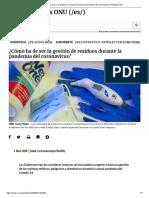 ¿Cómo ha de ser la gestión de residuos durante la pandemia del coronavirus_ _ Noticias ONU