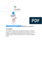 Mínimo común múltiplo_cuadernillo