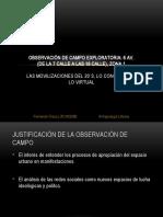 OBSERVACIÓN DE CAMPO