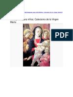 Catecismo de la Virgen María