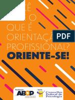 Você Sabe o que é Orientação Profissional - Oriente-se - CFP.pdf