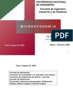 Clase 2 Micro Preferencias Recta Presupuestal