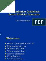 Immunization Schedule in UAE 1 Nov 2009