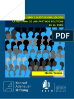 Semana 11-Personalismo e institucionalización_ La reforma de los partidos políticos en el Perú (Pdf).pdf