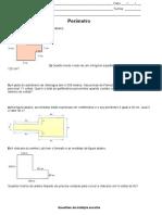 Exercícios 6 º ano-Matemática-Perímetro