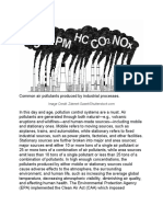 Common air pollutants produced by industrial processes.docx