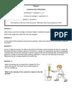 Mechanics - Basic Kinematics Review4