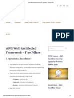 AWS Well-Architected Framework - Five Pillars - Tutorials Dojo