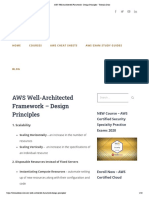 AWS Well-Architected Framework - Design Principles - Tutorials Dojo