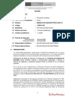 SILABO MANEJO DE CADAVER COVID 19