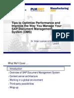 PLM2007 LeverX Tips to Optimize
