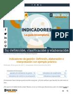 Indicadores de gestión PASO A PASO_ Cómo se hacen + ejemplo práctico