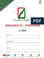 Simulado 01 - Português - 6º Ano - ( Blog do Prof. Adonis)