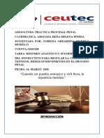 Analisis de testigos y peritos procesal penal