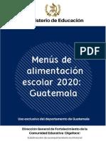 07 MENUS ESCOLARES 2020 GUATEMALA