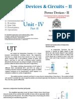 EDC-II Unit-4 Part 2 UJT, Photodiode, IR Emitters, Solar Cells, etc