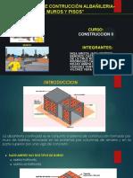 PRODUCTO SEMANA 01 GRUPO PROCESO DE CONSTRUCCION ALBAÑILERIA-MUROS Y PISOS