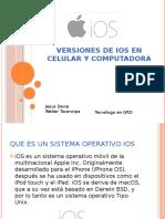 Versiones de IOS en celular y computadora