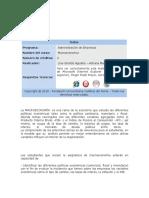 PROGRAMA DE MACROECONOMIA